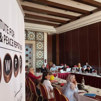 IWPR training course on maximising the use of social media held in July 2017 in Tunis. Participants built skills through a combination of discussions, interactive presentations, and practical exercises.