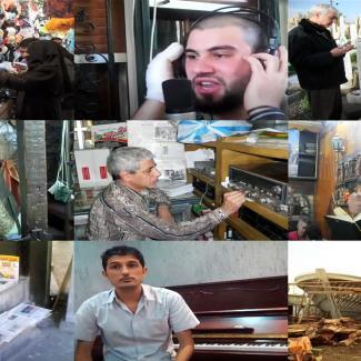Stills of A Window on Syria video stories.