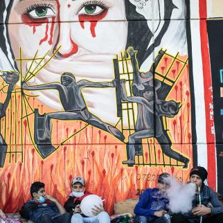 In recent years Iraqi artists have developed their street art and caricatures in support of the anti-government movements.