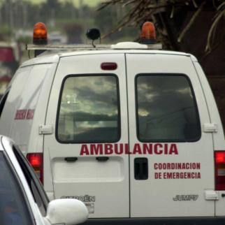 An ambulance van in Havana.