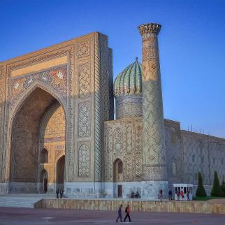Sherdor Madrasa in Samarkand, Uzbekistan.