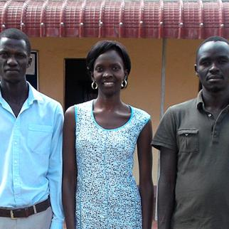 New Facing Justice reporters (left to right) Alex Otto, Oroma Gladys and Cho Woo Willy. (Photo: IWPR)