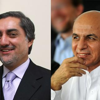 Abdullah Abdullah (left) and Ashraf Ghani Ahmadzai. (Photos: US embassy Kabul/Flickr)