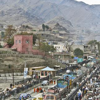 The Torkham crossing, looking from Afghanistan into Pakistan. (Photo: US Army/Wikimedia)