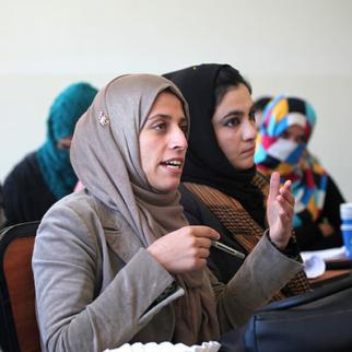 University students in discussion. (Photo: UNAMA News/Flickr)