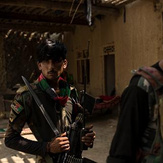 Soldiers with the Afghan National Army at an outpost in Momand Valley. (Photo: Andrew Renneisen/Getty Images)