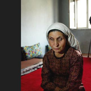Aqulia and her husband, QaQa Alam are both blind and livie in a home for the disabled in Kabul. (Photo: Paula Bronstein/Getty Images)