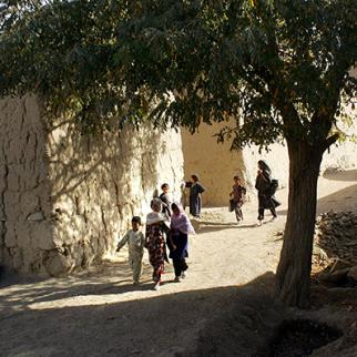Afghan children walk to school in Logar province. (Photo: John Moore/Getty Images)