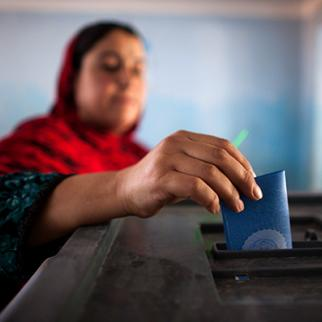 Officials and activists are warning that very few women are registering to vote in upcoming elections. (Photo:	Majid Saeedi/Getty Images)