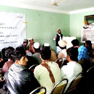 IWPR debate in Khost province, November 2015. (Photo: IWPR)