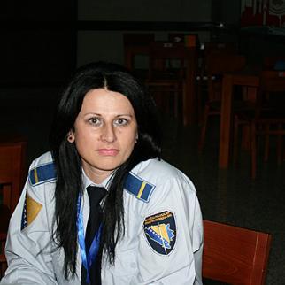 Bosnian police officer Amela Zukovic. (Photo: Mladen Lakic)