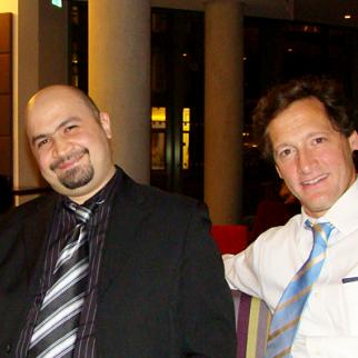 Ammar Al Shahbander with Anthony Borden, pictured in 2012. (Photo: IWPR)