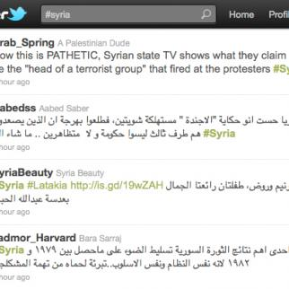 Syrian activists making more effective use of social media like Twitter, but the authorities are not far behind.