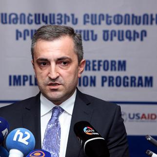 Artak Ghazaryan, the head of the pension reform programme. (Photo: Photolure agency)