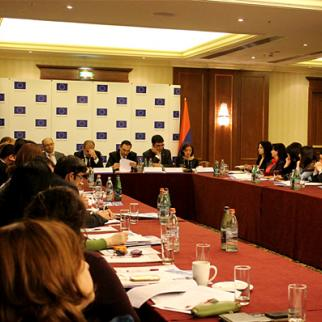 Public hearings on the new NGO law. (Photo: Gayane Mirzoyan)