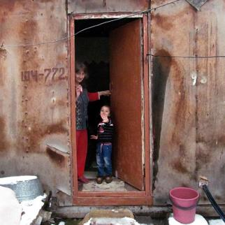Some families still live in the containers provided as emergency accommodation after the 1988 earthquake. (Photo: Armine Martirosyan)