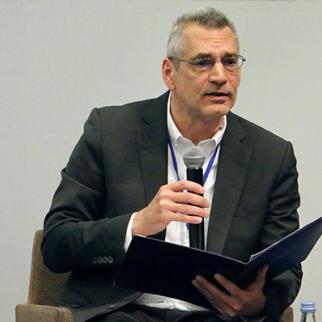 Richard Giragosian, Director of the Regional Studies Center, at a conference in Tbilisi, Georgia organised by the Strategic Policy Institute. (Photo: Strategic Policy Institute)