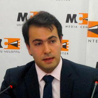 Tigran Yegoryan of the Europe in Law Association in Armenia. (Photo: Media Centre, Yerevan)