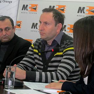 IWPR's Yerevan office hosted a debate on pension reform on November 26. (Photo: IWPR)
