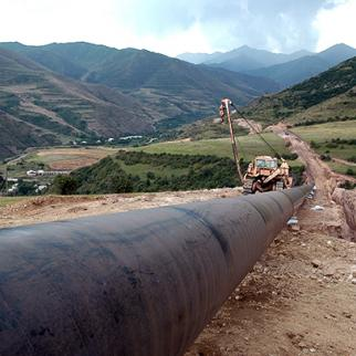 A pipeline supplying Armenia with natural gas. (Photo: Photolure)