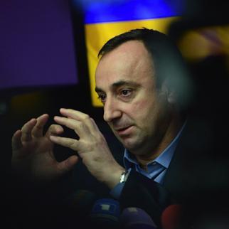 Armenian justice minister Hrayr Tovmasyan. (Photo: Photolure agency)