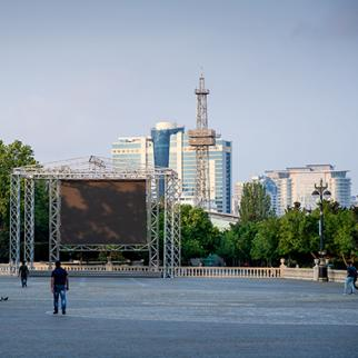 A view of the area for the UEFA Europa League Final 2019 fan festival, Baku. (Photo: Thomas Eisenhuth/Getty Images)