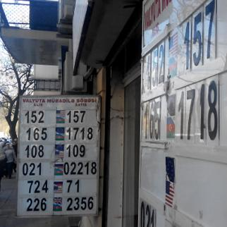 Shuttered: currency exchange offices closed their doors following the devaluation. (Photo: Vafa Zeynalova)