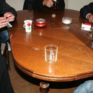 Recovering addicts meet in Baku, Azerbaijan. (Photo: IWPR)