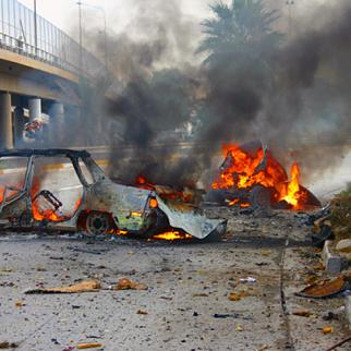 A suicide car bomb exploded close to the interior ministry in central Baghdad on December 26, killing five. (Photo: Ahmed al-Baghdadi)