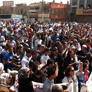 Protests in Baghdad's Tahrir Square, September 2011. (Photo: Khalid Waleed)