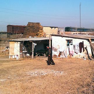 The home where Solmaz and family live in Barda, Azerbaijan. (Photo: Leyla Amirova)