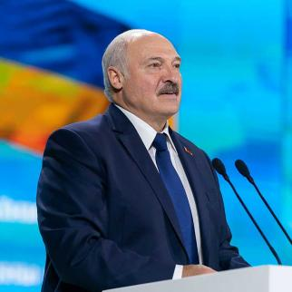 Belarusian President Lukashenko at a public appearance.