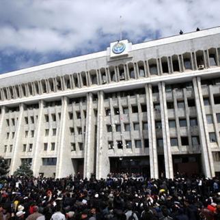 The White House in Bishkek symbolises Kyrgyzstan's transition from a presidential to a parliamentary system of government. Shown here during disturbances in April, it was the seat of the then president Kurmanbek Bakiev. Now it has been refurbished to house the new parliament. The president is moving to the old parliament building. (Photo: Igor Kovalenko)