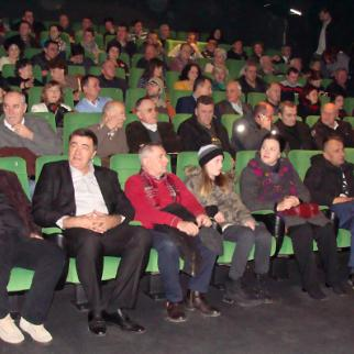 The film Macedonian, about a Bosnian soldier who refused orders to save civilians, is screened in Sarajevo. (Photo: Dzenana Halimovic)