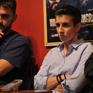 """Bosnian hip-hop artist Adnana """"Frenkie"""" Hamidovic (left) and the director of the film Ada Sokolovic. (Photo: Maja Nikolic)"""
