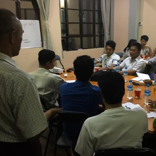 Training session for media monitors in Yangon. (Photo: Alan Davis)