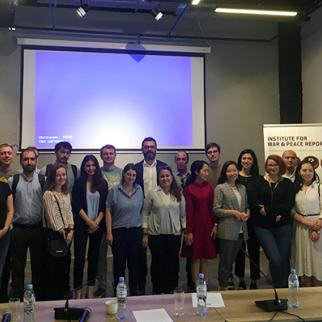 Joint photo of fellows, interns and civil society activists from Moldova, Ukraine, Georgia and Central Asian countries taken at IWPR discussion event The Role of Civil Society and Media in Governance - From Central Asia to Eastern Europe held on June 19, 2019. (Photo: IWPR Tbilisi office)