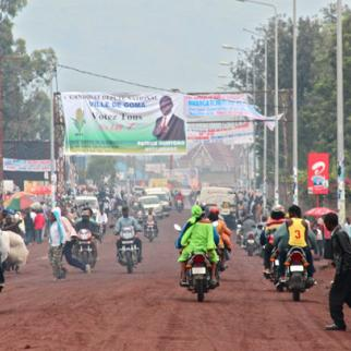 An election poster in Goma. (Photo: Melanie Gouby)
