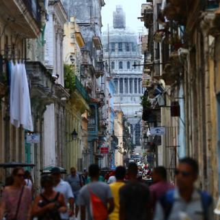 A street in Havana, Cuba's capital city. (Photo: Carl Court/Getty Images)