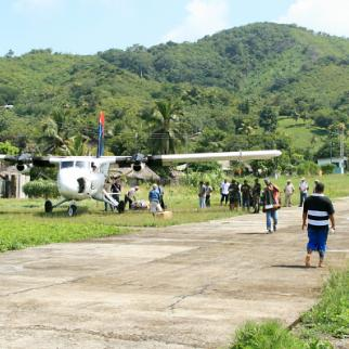 A plane in in the town of Obaldia in Panama. (Photo: IWPR)