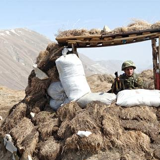 Russian army outpost in the mountains of Dagestan, March 2008. (Photo: Sergey Pyatakov/RIA Novosti/Wikimedia Commons)