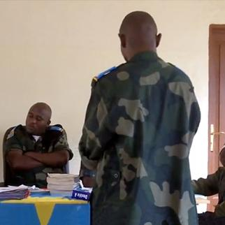 A mobille court in Walungu convicted four members of the Congolese military of war crimes and crimes against humanity. (Still from a video by Passy Mubalama)