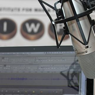 """Header for the IWPR Radio Podcasts """"Refugee News"""" and """"Behind the Headlines"""" run by young reporters from conflict-affected regions of Georgia and students of media schools in Tbilisi. (Photo: IWPR Georgia)"""