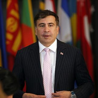 Mikheil Saakashvili, former Georgian president, seen here at the UN General Assembly on September 24, 2013. (Photo: Spencer Platt/Getty Images)