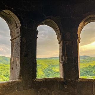 A view from Tiri Monastery.
