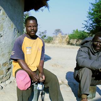 Goromonzi residents Borden Mushonga (left) and Bopoto Nyandoro. (Photo: Gamuchirai Masiyiwa)