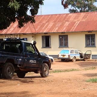 Police station in Gulu. Law-enforcement officers in northern Uganda struggle to fulfil their child protection role. (Photo: Simon Jennings)