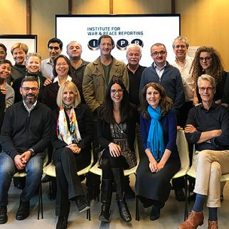 Group photo of IWPR staff during the retreat in the Hague. (Photo: IWPR)