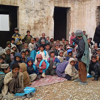 A school in Helmand province, Afghanistan. (Photo: Gol Ahmad Ehsan)