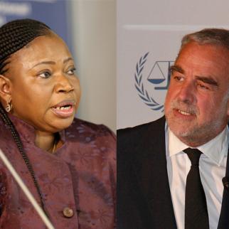 Incumbent Prosecutor Fatou Bensouda and her predecessor Luis Moreno-Ocampo. (Photo: ICC-CPI/Flickr)